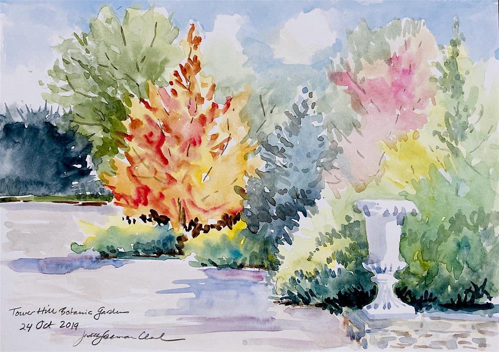 """Tower Hill, sketch"" original fine art by Judith Freeman Clark"