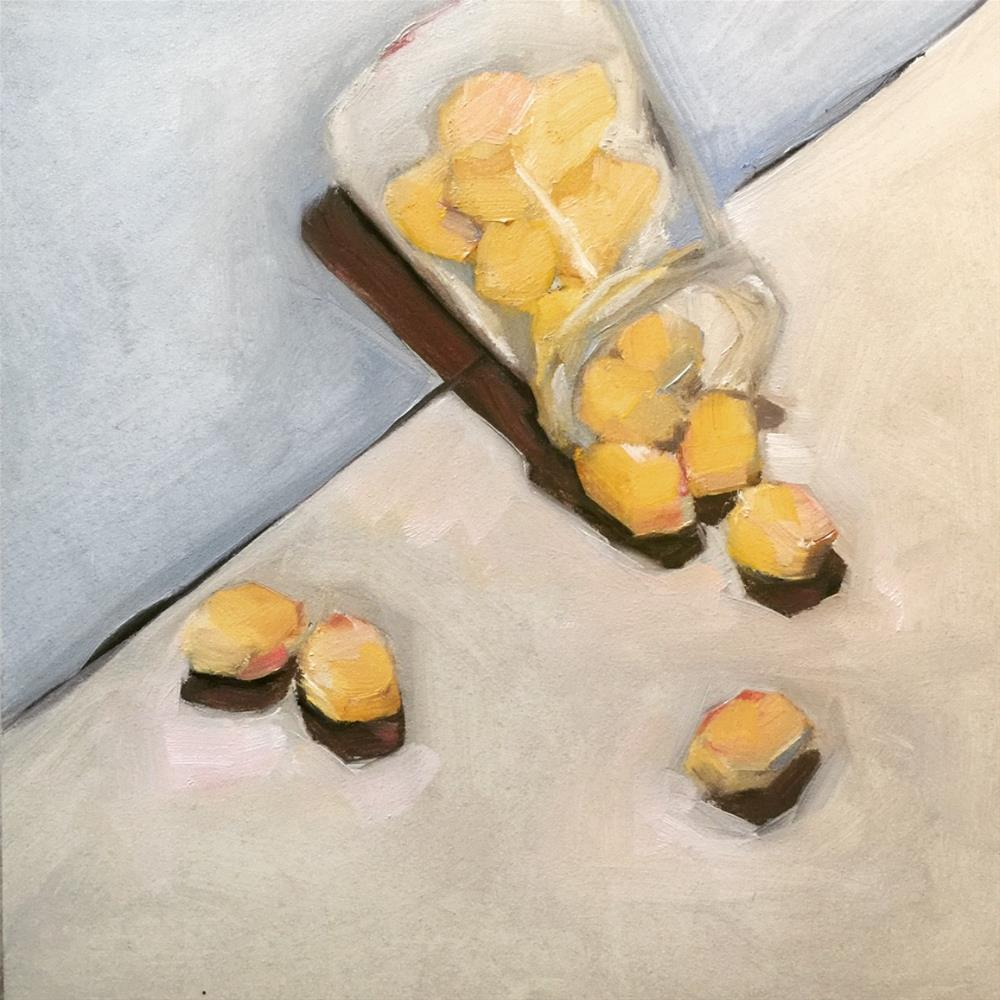 """651 Lemon Drops"" original fine art by Jenny Doh"