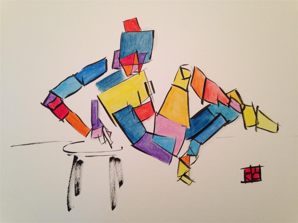 """""""Box woman Colorful"""" original fine art by Arron McGuire"""