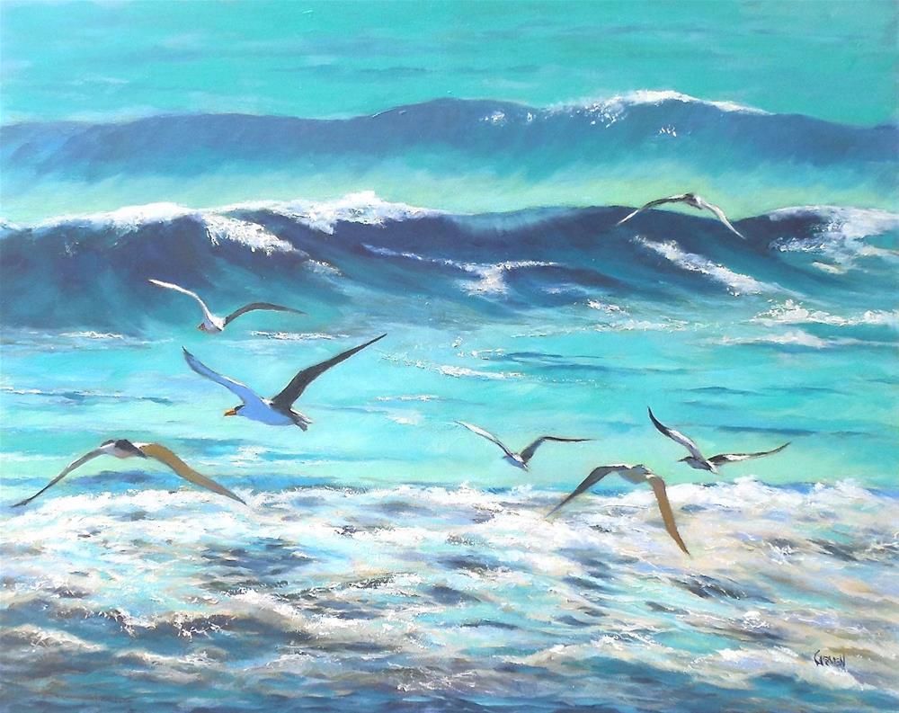 """""""Breakfast Club, 20x16 Oil on Canvas Panel"""" original fine art by Carmen Beecher"""