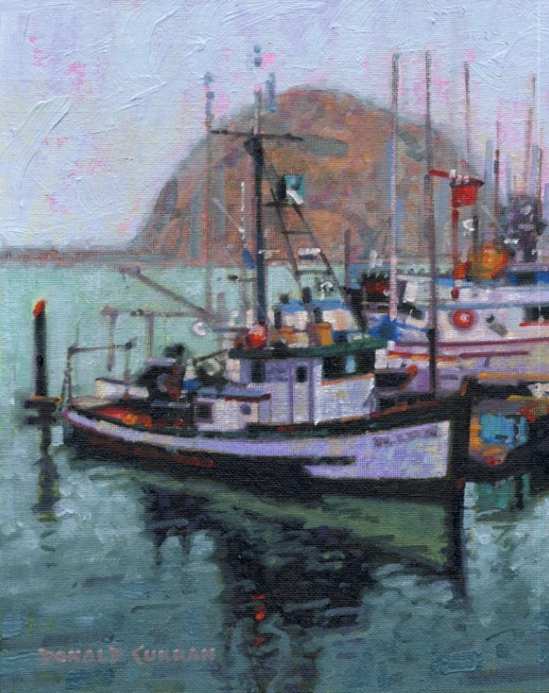 """Morro Bay, California"" original fine art by Donald Curran"