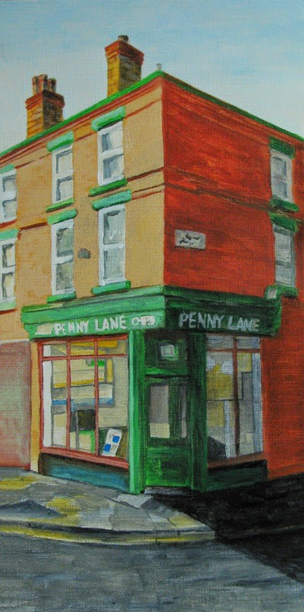 """Penny Lane"" original fine art by Nan Johnson"