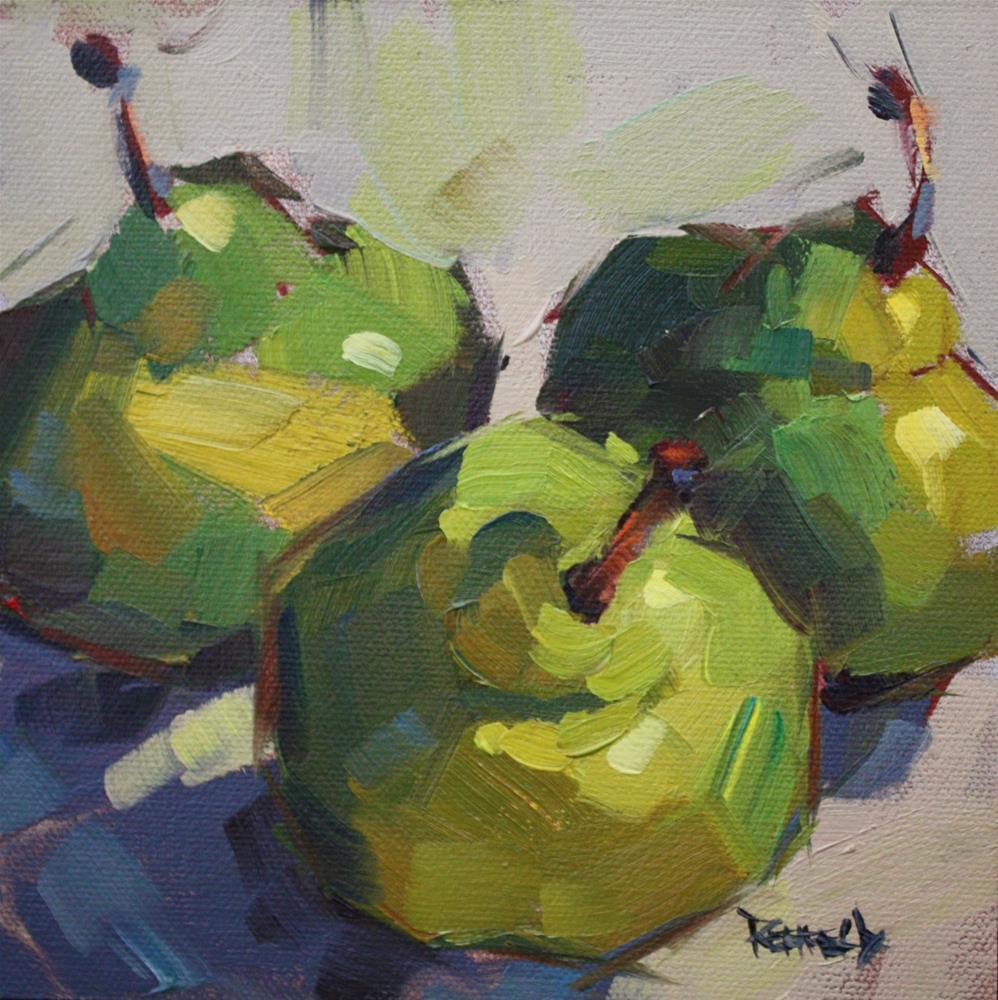 """""""Dancing Pears"""" original fine art by Cathleen Rehfeld"""