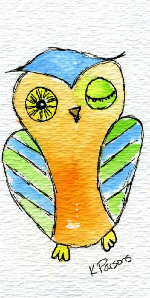 """""""Winking Eye"""" original fine art by Kali Parsons"""