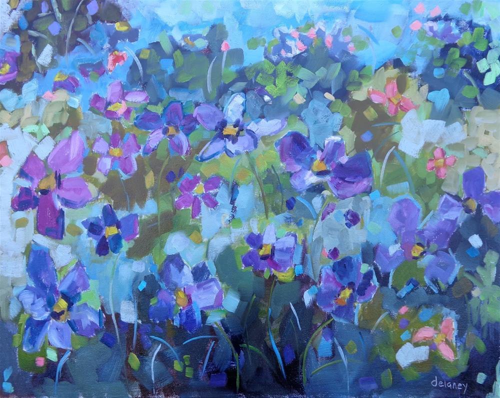 """""""FLOWER FROLIC"""" original fine art by Jean Delaney"""