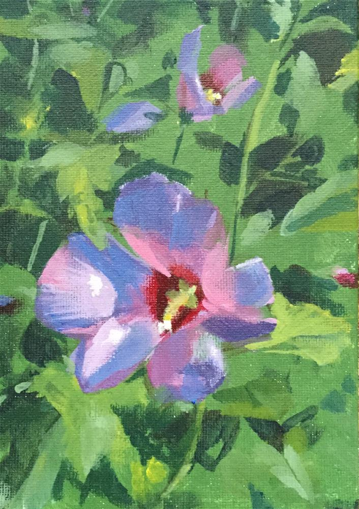 """Rose of Sharon"" original fine art by Chi Chi Taylor"