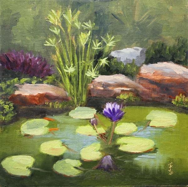 """Pond Heaven"" original fine art by Jane Frederick"
