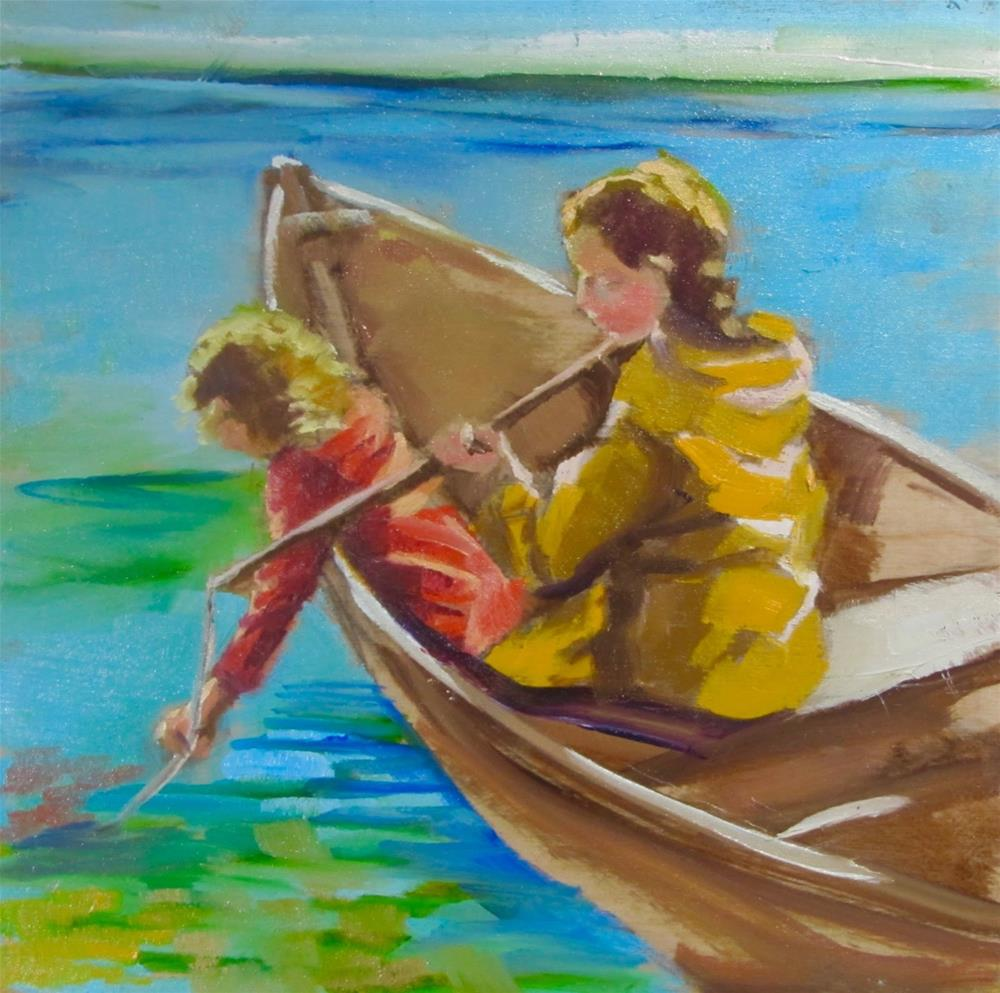 """""""The fishing Expedition"""" original fine art by Christine Holzschuh"""