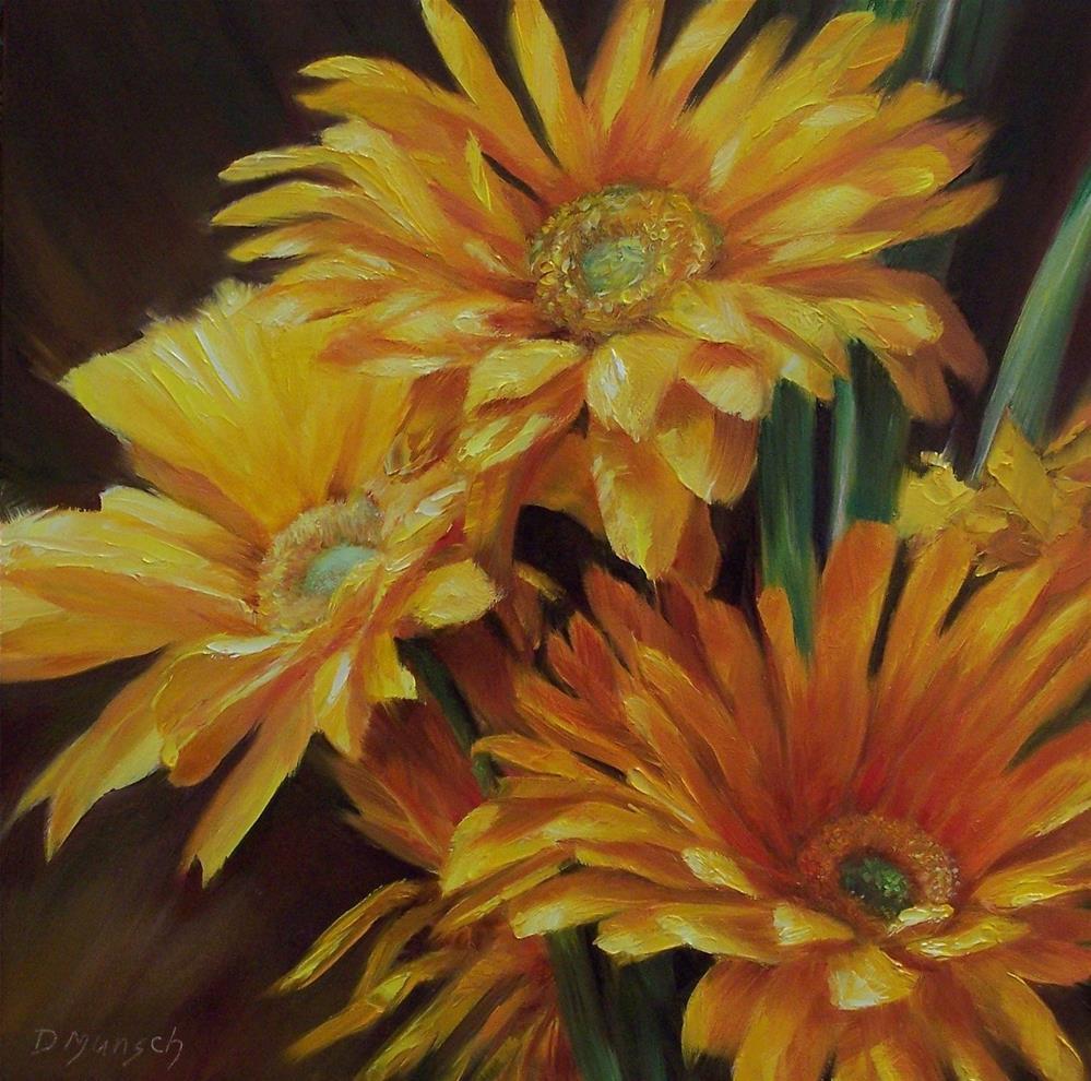 """Goldies"" original fine art by Donna Munsch"
