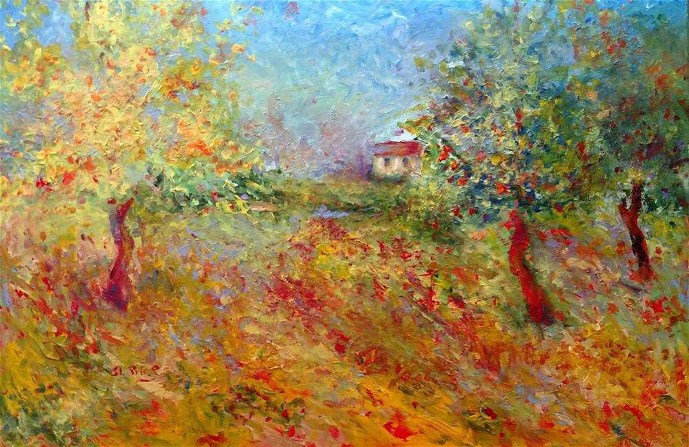 """Provincial Fall"" original fine art by S. Lynne Price"