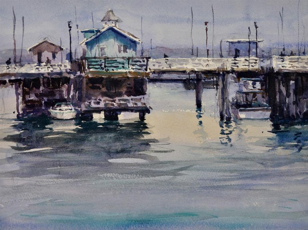 """""""Last Day on the Wharf"""" original fine art by Brienne M Brown"""