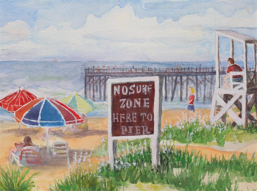 """No Surf Zone"" original fine art by Michael Saunders"