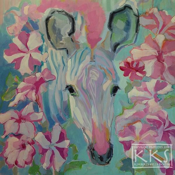"""Pinwheels, in Process"" original fine art by Kimberly Santini"