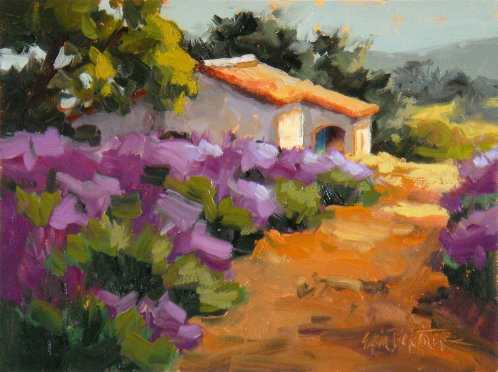 """Lavender Lane"" original fine art by Erin Dertner"