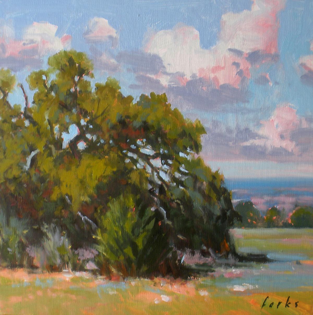 """Oak and Cedar"" original fine art by David Forks"