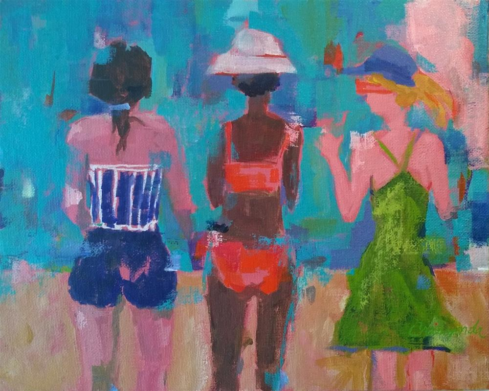 """So....to the beach we go."" original fine art by Crisynda Buss"