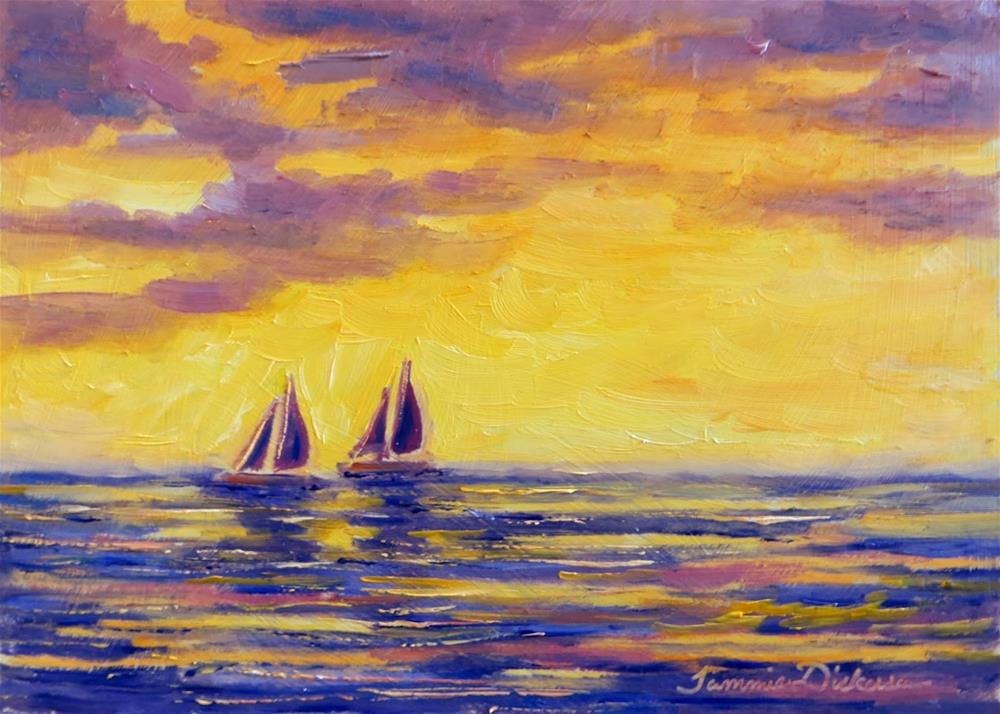 """Two Ships Sailing"" original fine art by Tammie Dickerson"