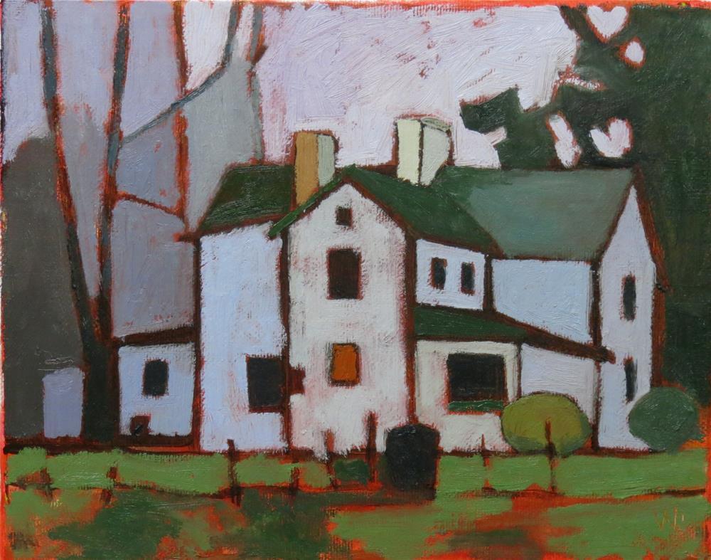 """January Evening"" original fine art by Joan Wiberg"