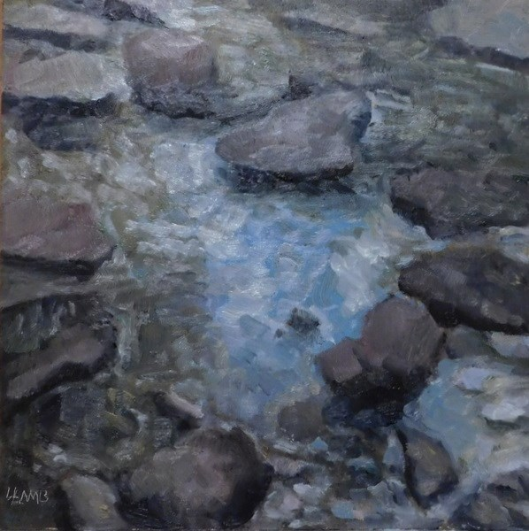 """Little Creek"" original fine art by Lori L. Lamb"