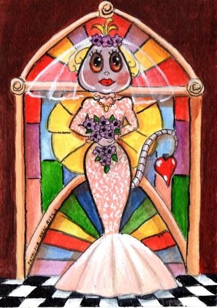 """""""The Alien Bride"""" original fine art by Patricia Ann Rizzo"""