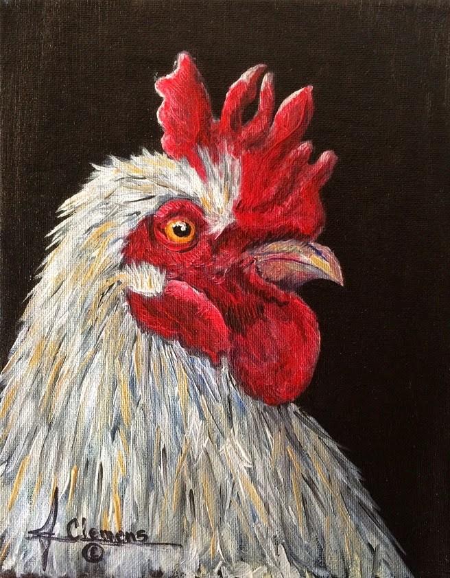 """The cow sent me"" original fine art by Jolynn Clemens"