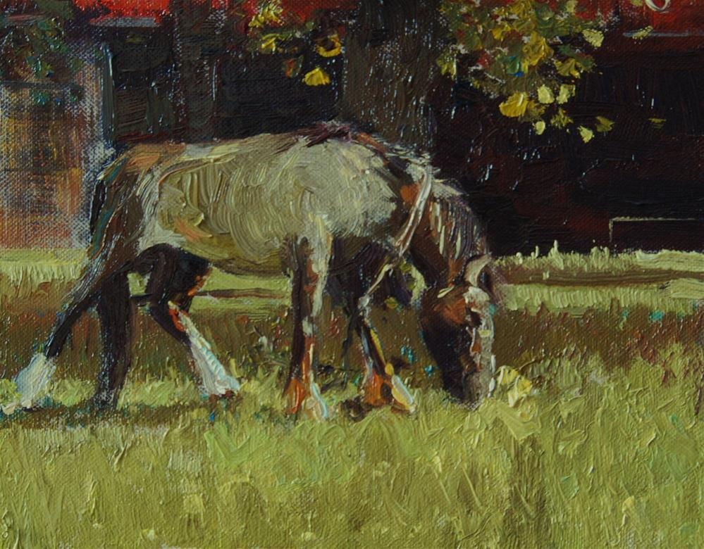 """Horsemotions II"" original fine art by Adebanji Alade"