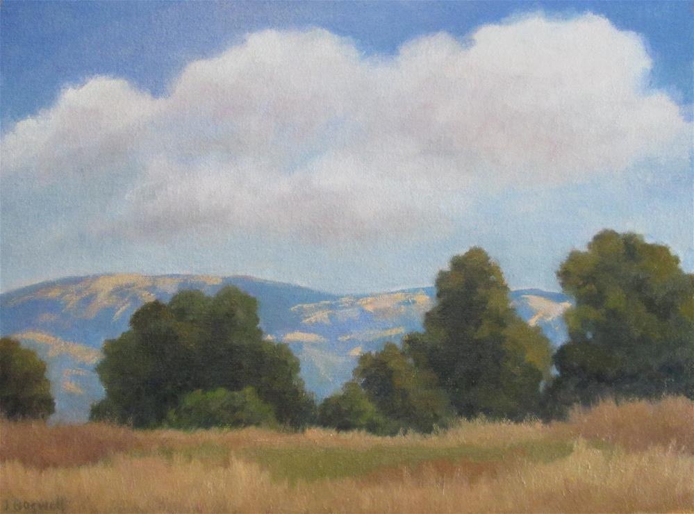 """Afternoon Clouds at Carpinteria Bluffs"" original fine art by Jennifer Boswell"