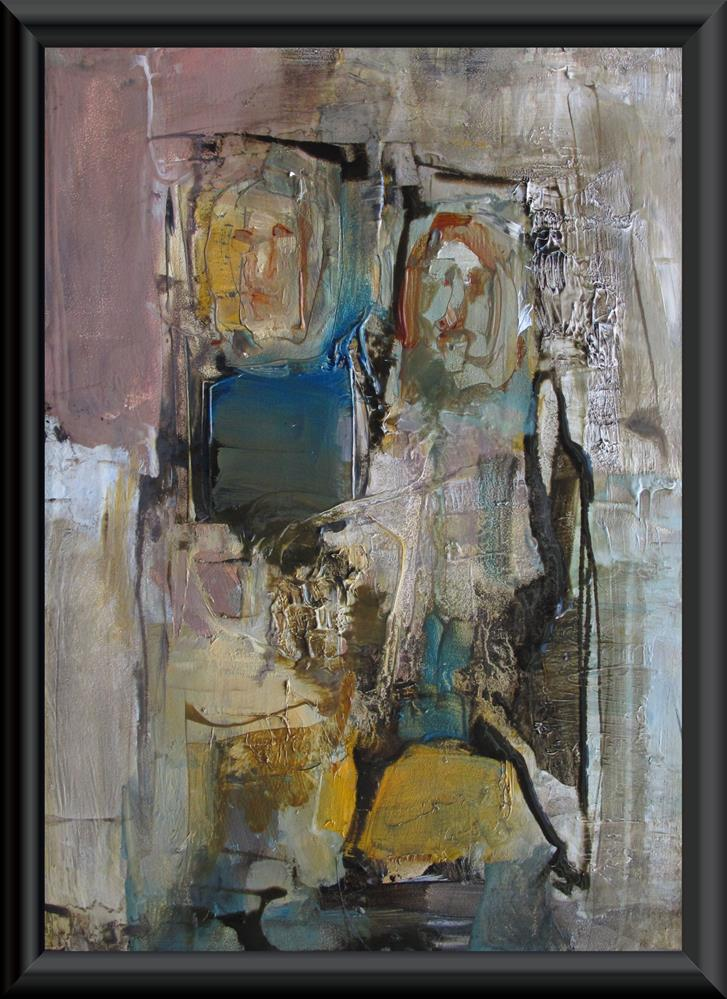 """OFF BROADWAY - ABSTRACT Figure Expressionism"" original fine art by Colette Davis"