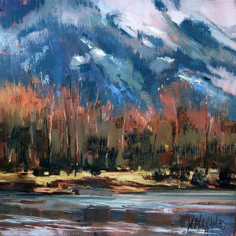 """Fall Into Winter"" original fine art by Mary Maxam"