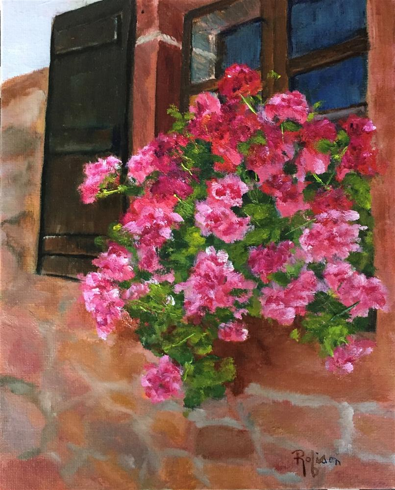 """Window Box in France"" original fine art by Renee Robison"