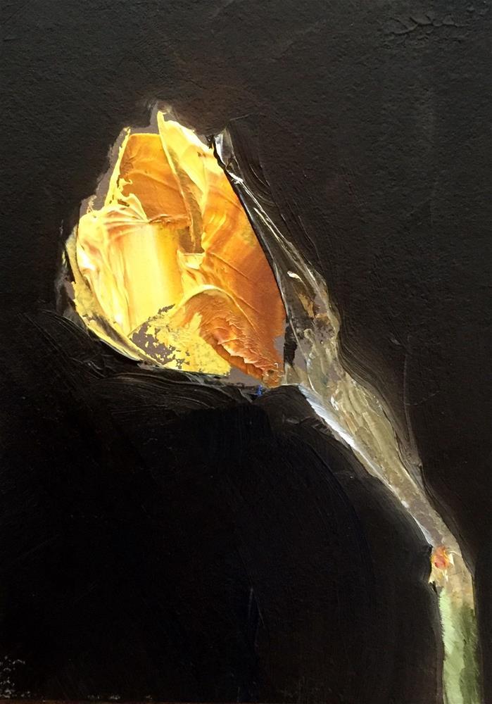 """Opening Daffodil"" original fine art by Gary Bruton"