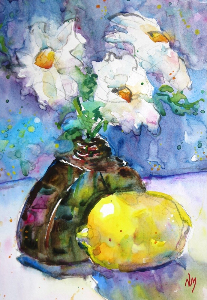 """glowing idea"" original fine art by Nora MacPhail"