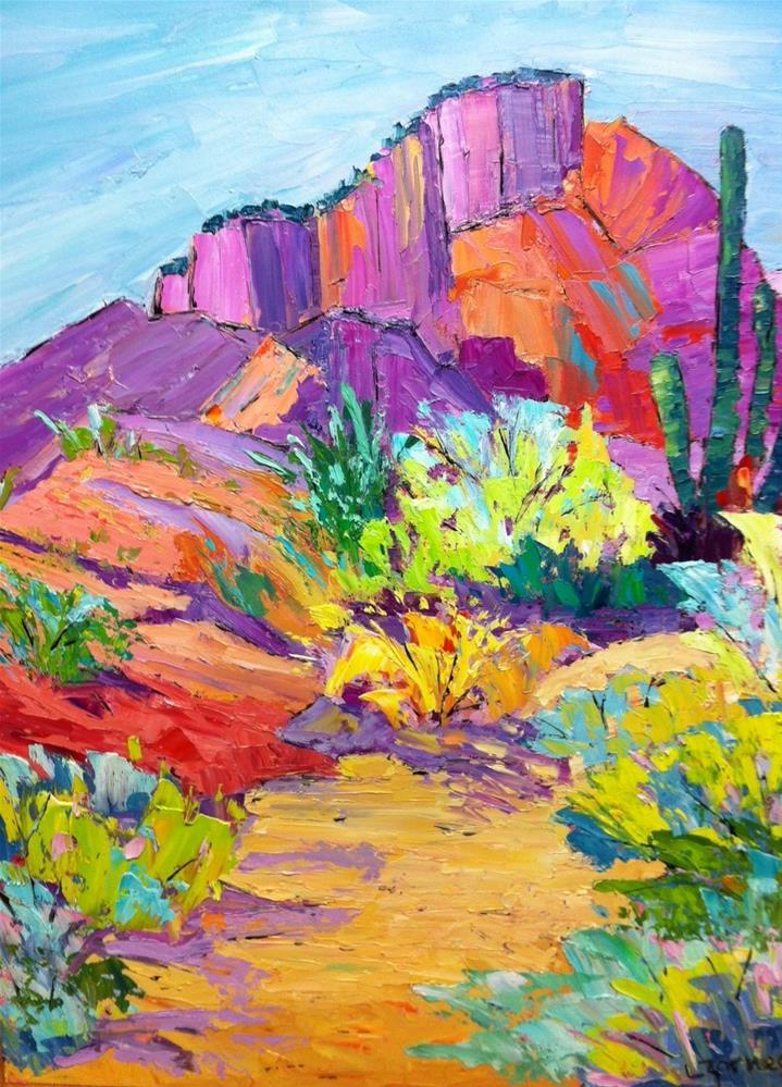 """Arizona Desert Color"" original fine art by Liz Zornes"