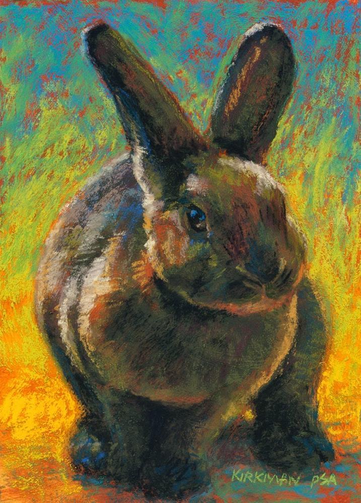 """Cocoa Bun"" original fine art by Rita Kirkman"