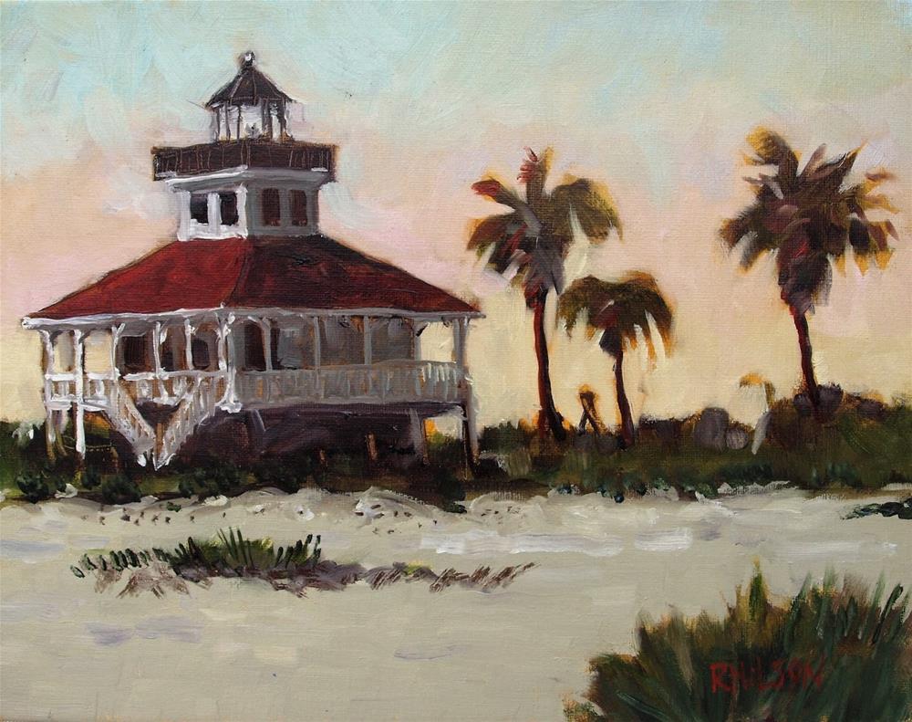 """Boca Grande Lighthouse"" original fine art by Rick Nilson"