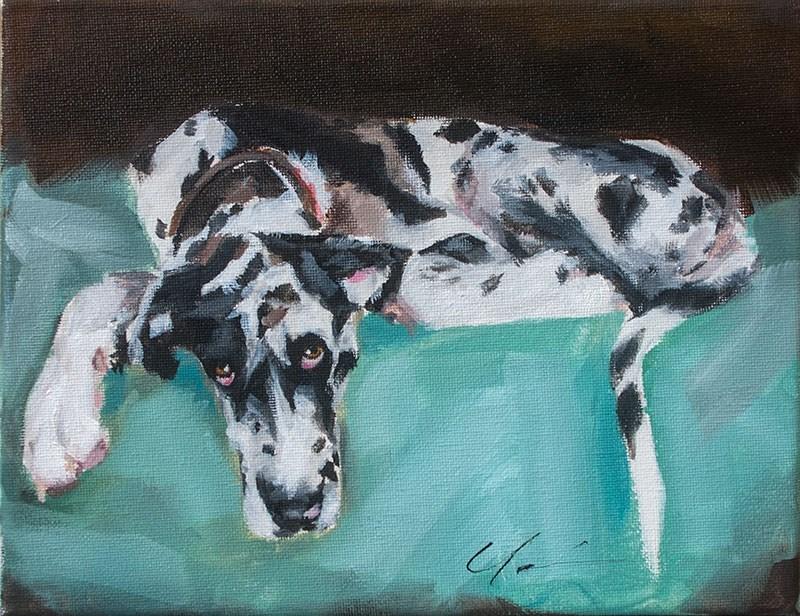 """PAINT MY DOG! #17"" original fine art by Clair Hartmann"