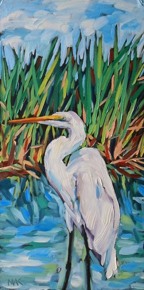 """""""Great White"""" original fine art by Mary Anne Cary"""