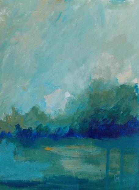 """All the Greenery II"" original fine art by Pamela Munger"