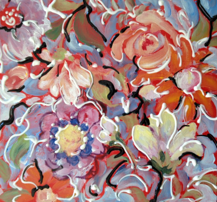 """Red Tile #2"" original fine art by Sue Dion"