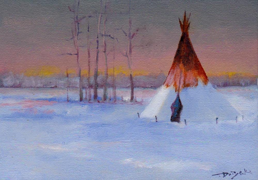 """cold winter"" original fine art by Mark DeBak"