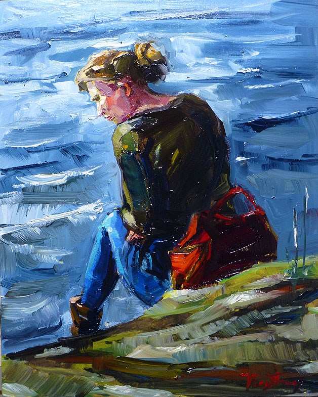 """at The Water"" original fine art by Jurij Frey"