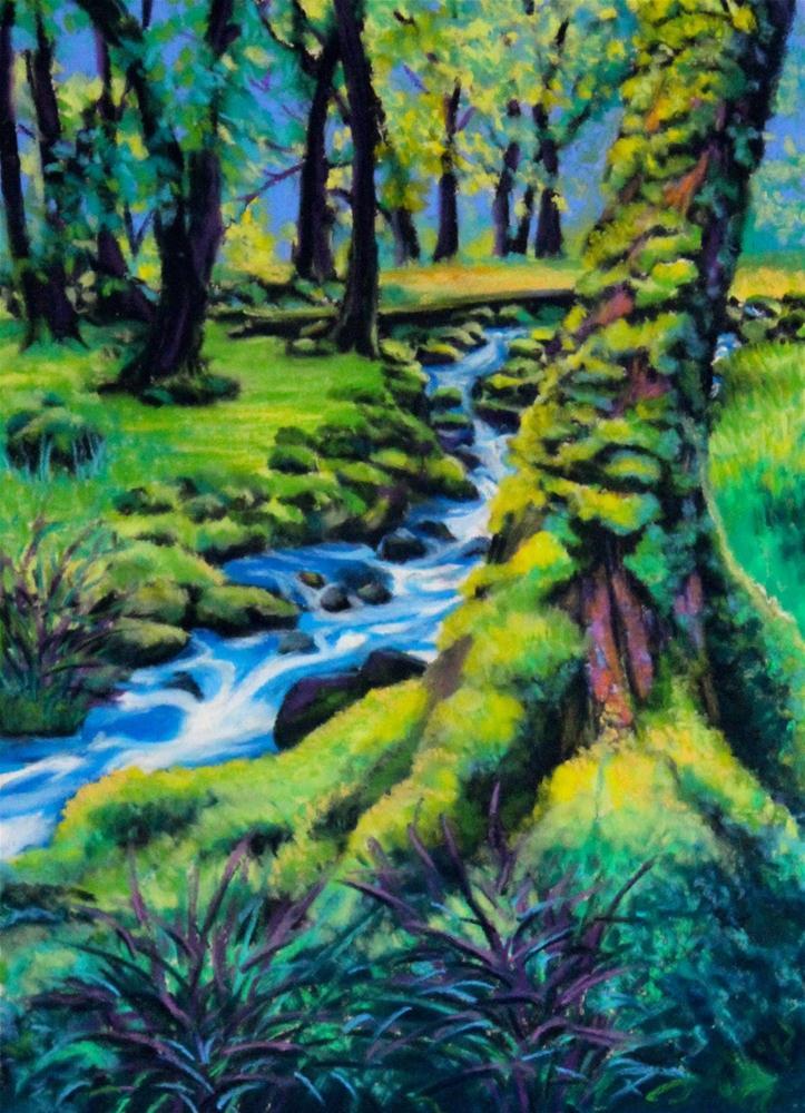 """""""Emerald Moss"""" original fine art by Jill Bates"""