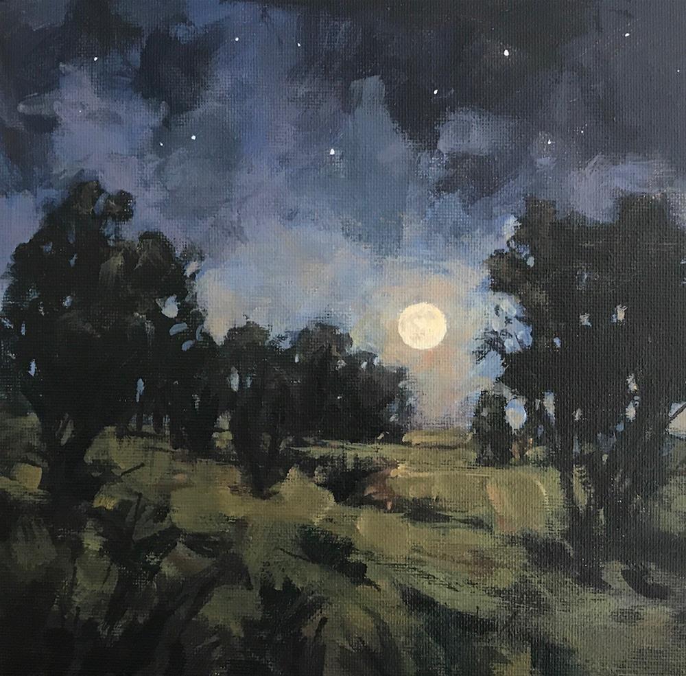 """""""Moonrise"""" original fine art by Shannon Bauer"""