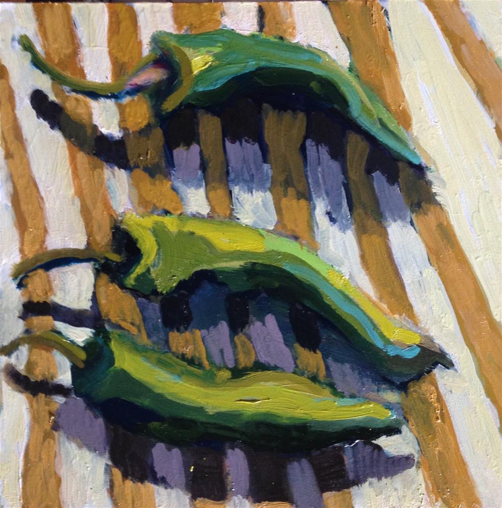 """Tres Pemientos"" original fine art by Pamela Hoffmeister"