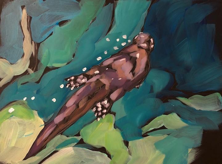 """Otter Go The Distance"" original fine art by Kat Corrigan"