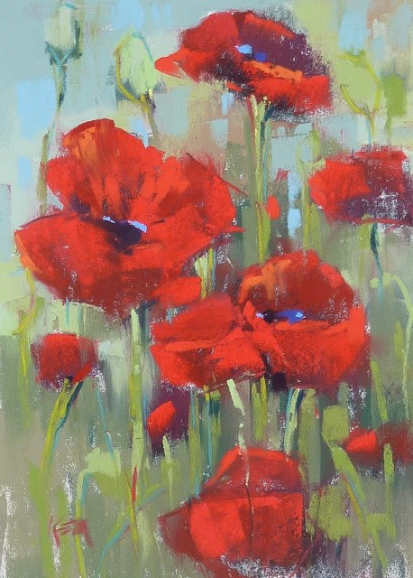 """""""Painting Flowers with a Power Block-In"""" original fine art by Karen Margulis"""