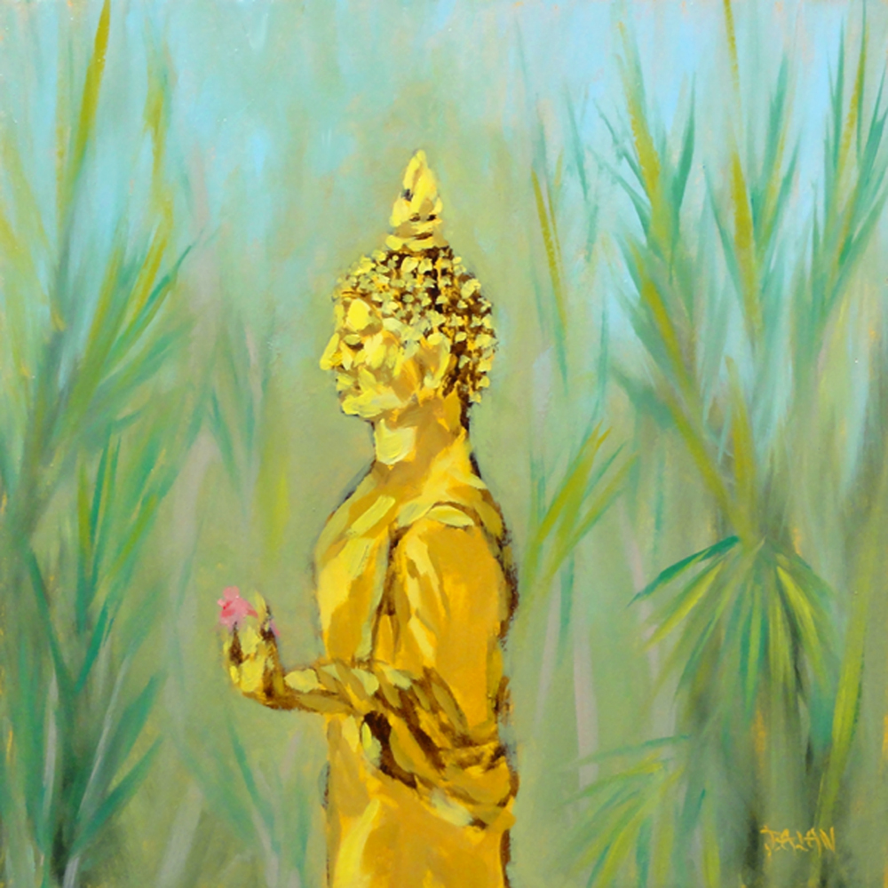"""Golden Buddha"" original fine art by Dalan Wells"