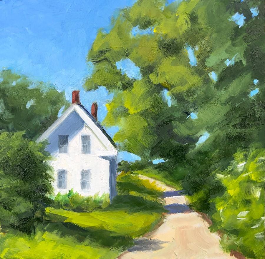 """#270 - Summer Greens - Orr's Island, ME"" original fine art by Sara Gray"