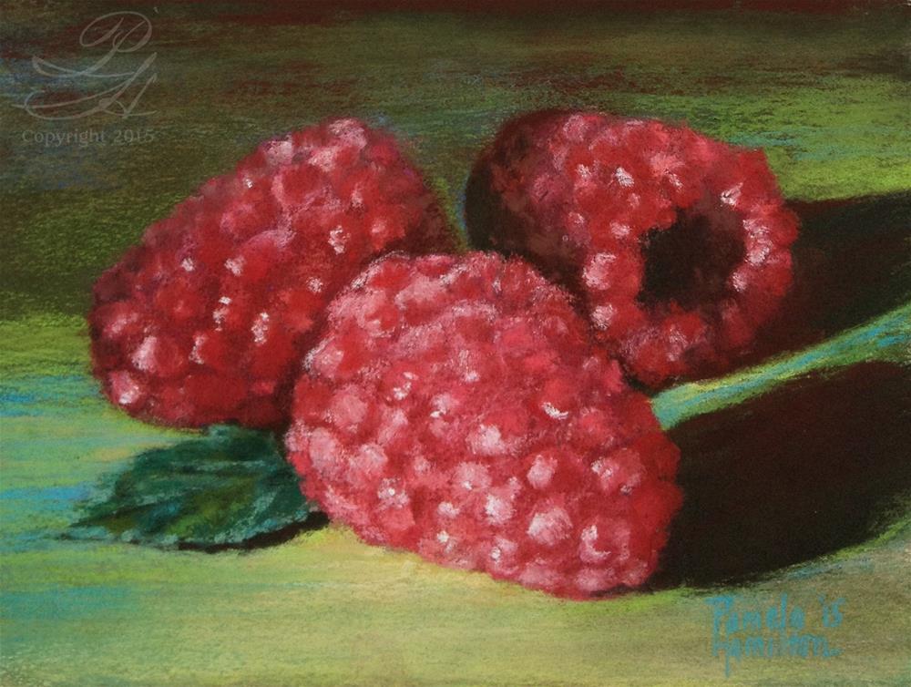 """Fresh Berries"" original fine art by Pamela Hamilton"