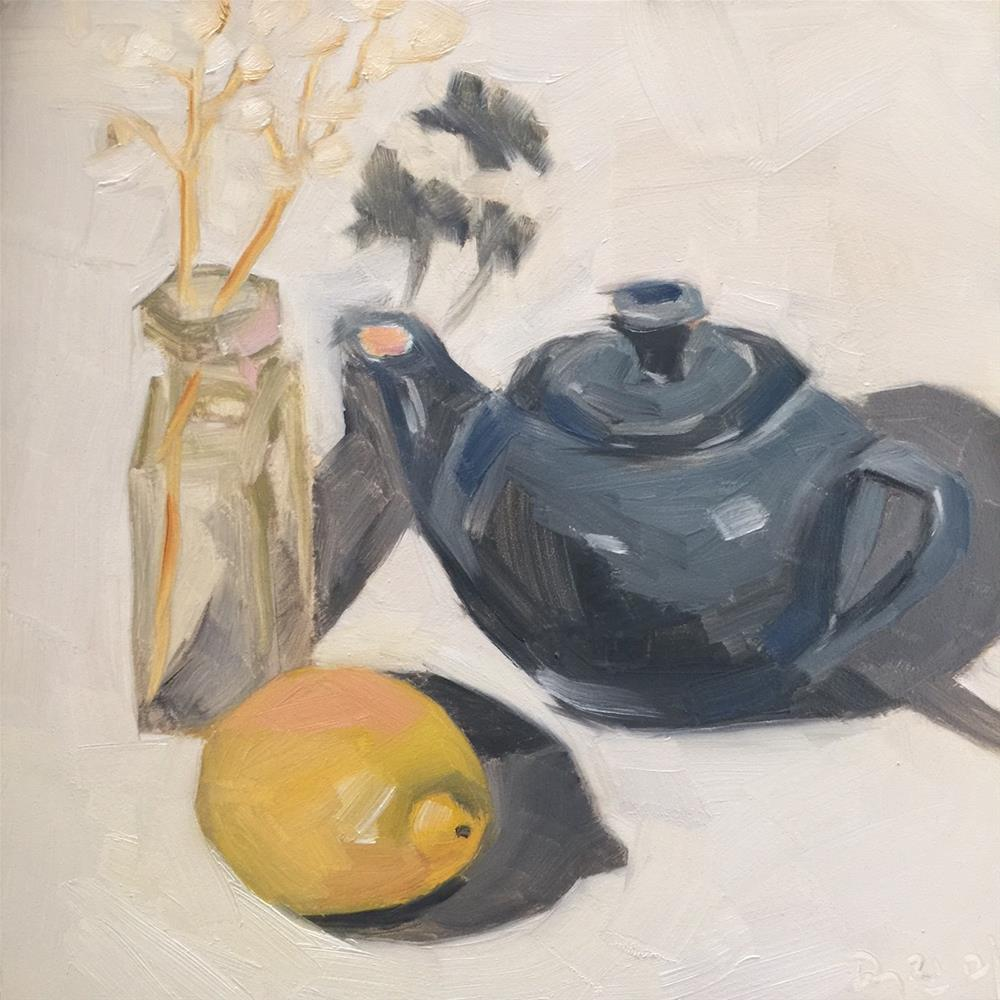 """347 I'm a Little Teapot"" original fine art by Jenny Doh"